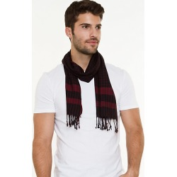 Le Chateau Mens - Lightweight Check Scarf in Red/Black Viscose found on Bargain Bro India from Le Chateau Stores for $19.99