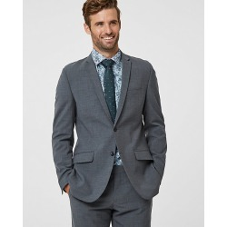 Le Chateau Mens - Tropical Wool Contemporary Fit Blazer Jacket in Grey Size 42 Polyester/Wool found on Bargain Bro Philippines from Le Chateau Stores for $210.00