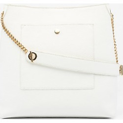 Le Chateau Womens - Faux Leather Hobo Bag in White Synthetic/Leather found on Bargain Bro India from Le Chateau Stores for $39.99