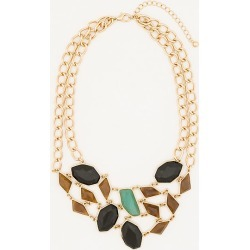 Le Chateau Womens - Cabochon Gem Bib Necklace in Toffee Plastic found on Bargain Bro India from Le Chateau Stores for $19.99