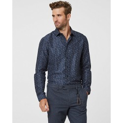 Le Chateau Mens - Paisley Print Slim Fit Shirt in Navy Size Small Polyester found on Bargain Bro Philippines from Le Chateau Stores for $49.99