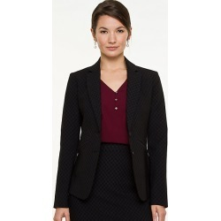 Le Chateau Womens - Bengaline Notch Collar Blazer Jacket in Black/Grey Size XL Nylon found on Bargain Bro India from Le Chateau Stores for $69.99