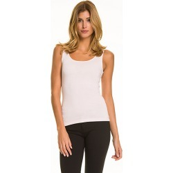 Le Chateau Womens - Essential Knit Scoop Neck Tank Top in Soft Pink Size Small