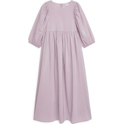 Puff Sleeve Cupro Blend Dress - Purple found on Bargain Bro UK from ARKET