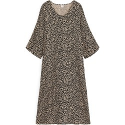 Printed Kaftan Dress - Beige found on MODAPINS from ARKET for USD $59.18