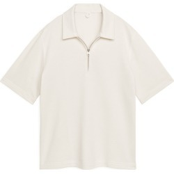 Half-Zip Jersey Shirt - White found on Bargain Bro UK from ARKET
