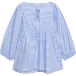 Puff Sleeve Poplin Blouse - Blue found on Bargain Bro UK from ARKET