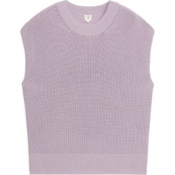 Knitted Cotton Top - Purple found on Bargain Bro UK from ARKET