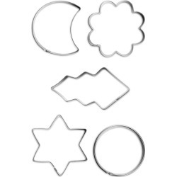 Jonas of Sweden Biscuit Cutters, 5 pcs - Silver