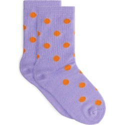 Jacquard-Knitted Socks - Orange found on MODAPINS from ARKET for USD $5.10