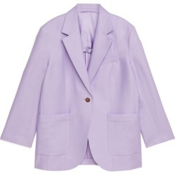 Oversized Cotton-Hemp Blazer - Purple found on Bargain Bro UK from ARKET