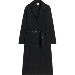 Belted Wool Coat - Black found on Bargain Bro UK from ARKET