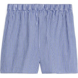Woven Cotton Boxer - Blue found on Bargain Bro UK from ARKET