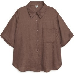 Short-Sleeved Linen Shirt - Beige found on Bargain Bro UK from ARKET