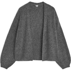 Yak Alpaca Blend Cardigan - Grey