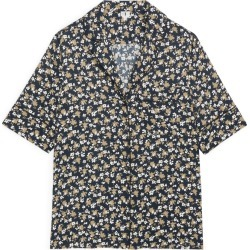 Floral Satin Blouse - Blue found on Bargain Bro UK from ARKET