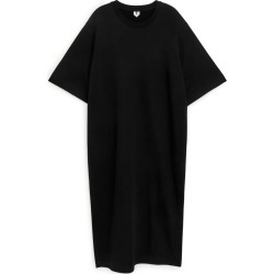 Short Sleeve Sweatshirt Dress - Black found on Bargain Bro UK from ARKET