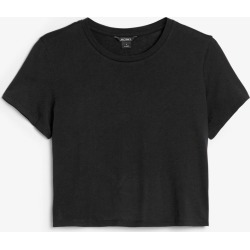 Cropped tee - Black found on Bargain Bro UK from Monki