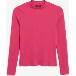 Long-sleeved low turtleneck top - Pink found on Bargain Bro UK from Monki