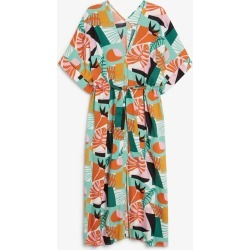 Belted kaftan dress - White found on MODAPINS from Monki for USD $37.77