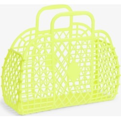 Retro beach basket - Yellow found on Bargain Bro UK from Monki