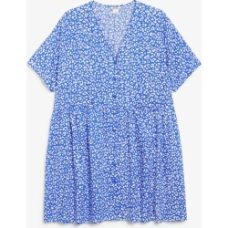 Oversized smock dress - Blue found on MODAPINS from Monki for USD $37.57