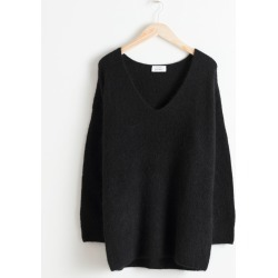 Oversized Wool Blend Sweater - Black found on Bargain Bro UK from & other stories