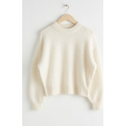 Fuzzy Wool Blend Sweater - White found on Bargain Bro UK from & other stories