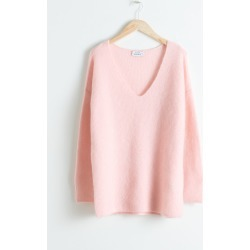 Oversized Wool Blend Sweater - Pink found on Bargain Bro UK from & other stories