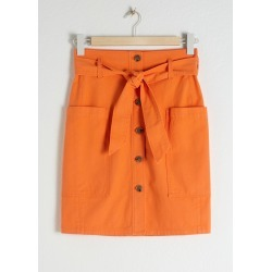 Cotton Blend Workwear Skirt - Orange found on MODAPINS from & other stories for USD $36.32