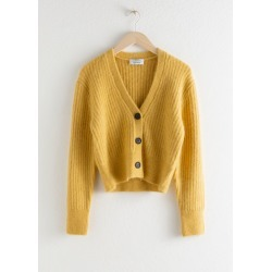 Wool Blend Cardigan - Yellow found on Bargain Bro UK from & other stories