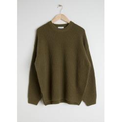 Oversized Wool Blend Sweater - Green found on Bargain Bro UK from & other stories