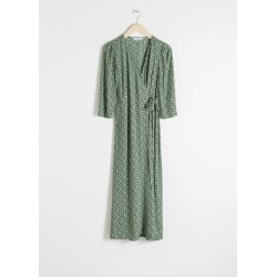 Midi Wrap Dress - Green found on Bargain Bro UK from & other stories