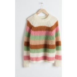 Pastel Striped Wool Blend Sweater - White found on Bargain Bro UK from & other stories