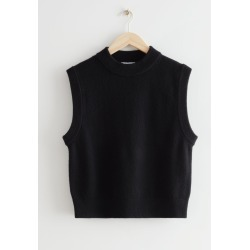 Relaxed Wool Knit Vest - Black found on Bargain Bro UK from & other stories