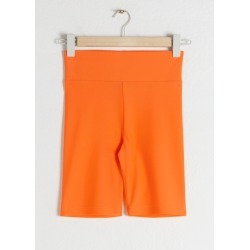 Fitted Cycling Shorts - Orange found on Bargain Bro UK from & other stories