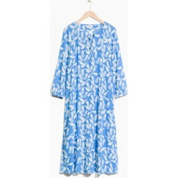 Printed Billowy Kaftan Dress - Blue found on MODAPINS from & other stories for USD $77.47