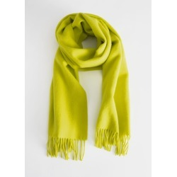 Wool Fringed Blanket Scarf - Yellow found on Bargain Bro UK from & other stories
