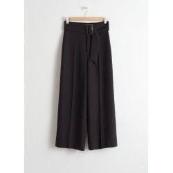 Belted Wide Leg Trousers - Black found on Bargain Bro UK from & other stories