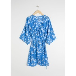Billowy Wrap Mini Dress - Blue found on MODAPINS from & other stories for USD $51.35