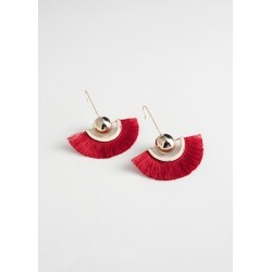 Pendant Fringe Earrings - Red found on Bargain Bro UK from & other stories