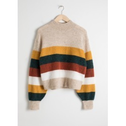 Striped Wool Blend Sweater - Beige found on Bargain Bro UK from & other stories