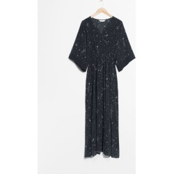 Printed Kaftan Dress - Black found on MODAPINS from & other stories for USD $112.06