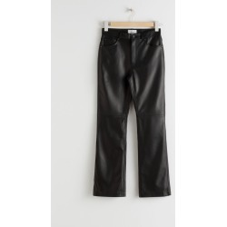 Leather Kick Flare Trousers - Black found on Bargain Bro UK from & other stories