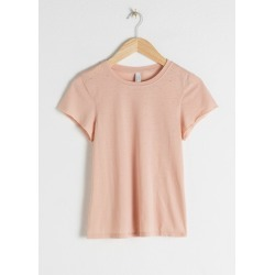 Cotton Blend Fitted T-Shirt - Beige found on Bargain Bro UK from & other stories