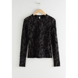 Fitted Floral Jacquard Top - Black found on Bargain Bro UK from & other stories