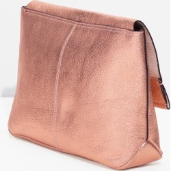 Flap Leather Clutch - Gold found on MODAPINS from & other stories for USD $62.26