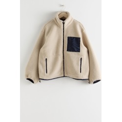 Relaxed Utility Fleece Jacket - Beige found on Bargain Bro UK from & other stories
