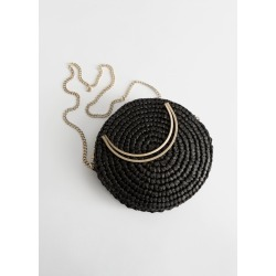 Woven Straw Crossbody Bag - Black found on Bargain Bro UK from & other stories