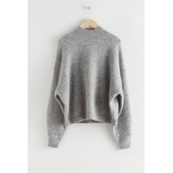 Oversized Fuzzy Wool Blend Sweater - Grey found on Bargain Bro UK from & other stories